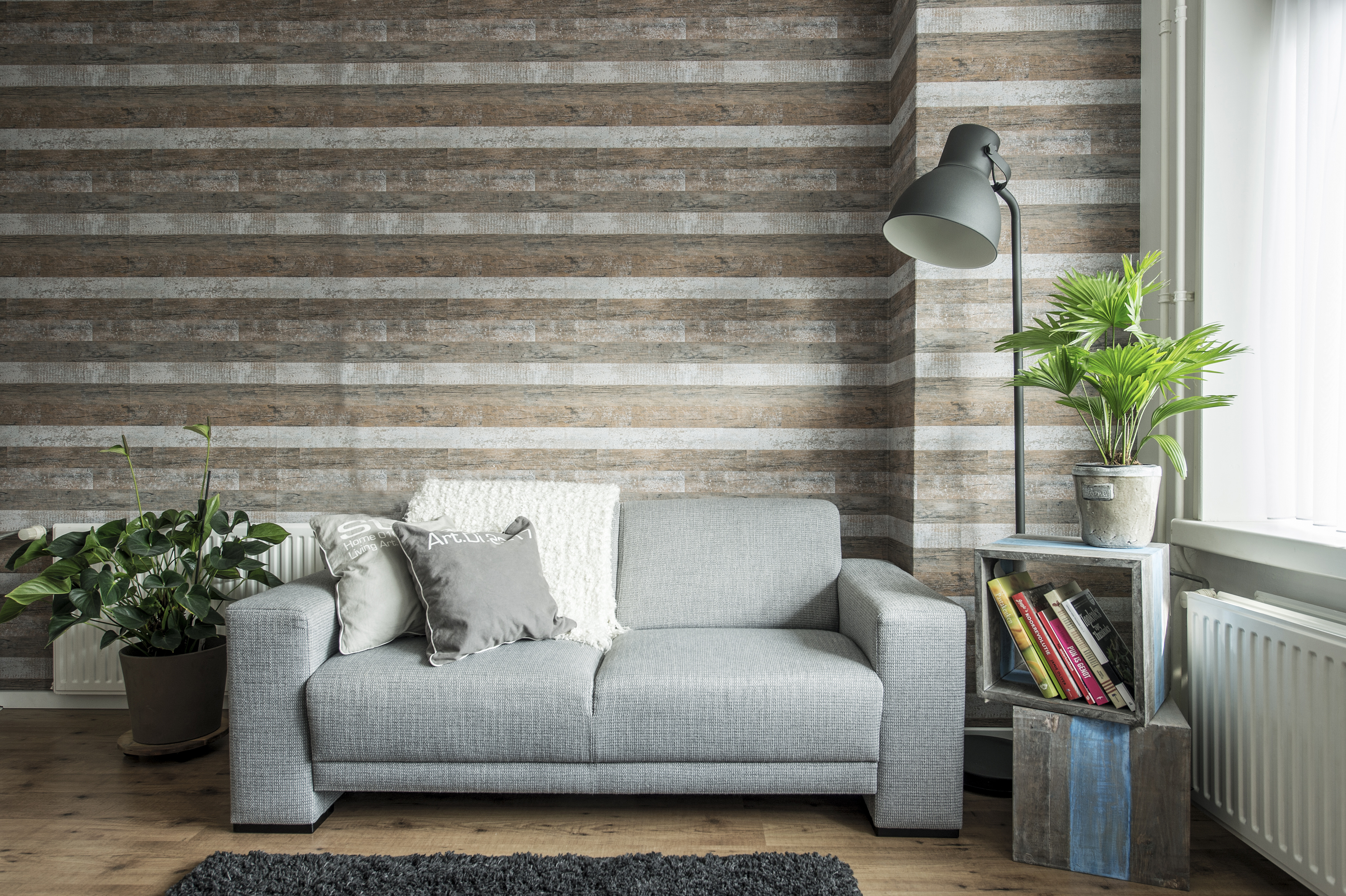 Steigerhout Behang Slaapkamer : Slaapkamer met steigerhout. finest slaapkamer met steigerhout with