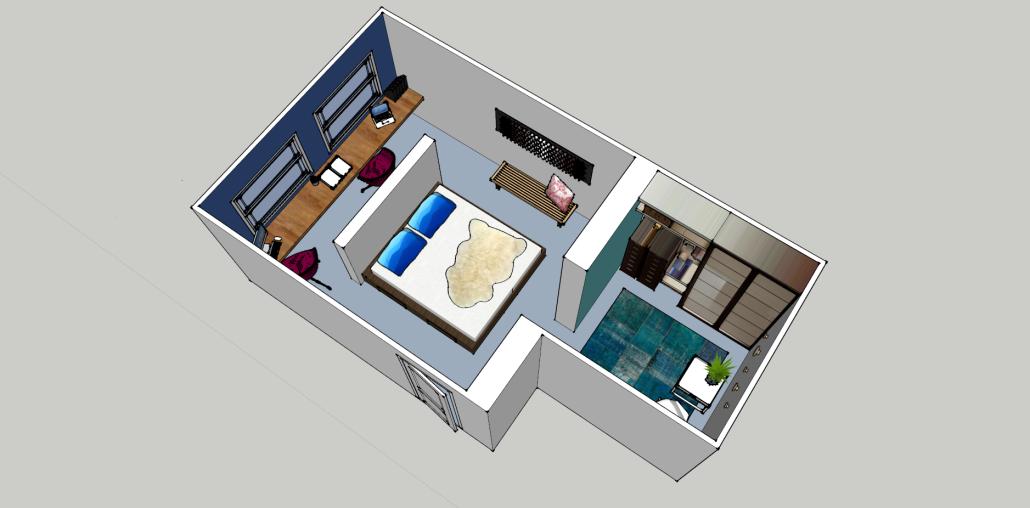 nya interieurontwerp | portfolio | slaapkamer, delft, 3d ontwerp, Deco ideeën