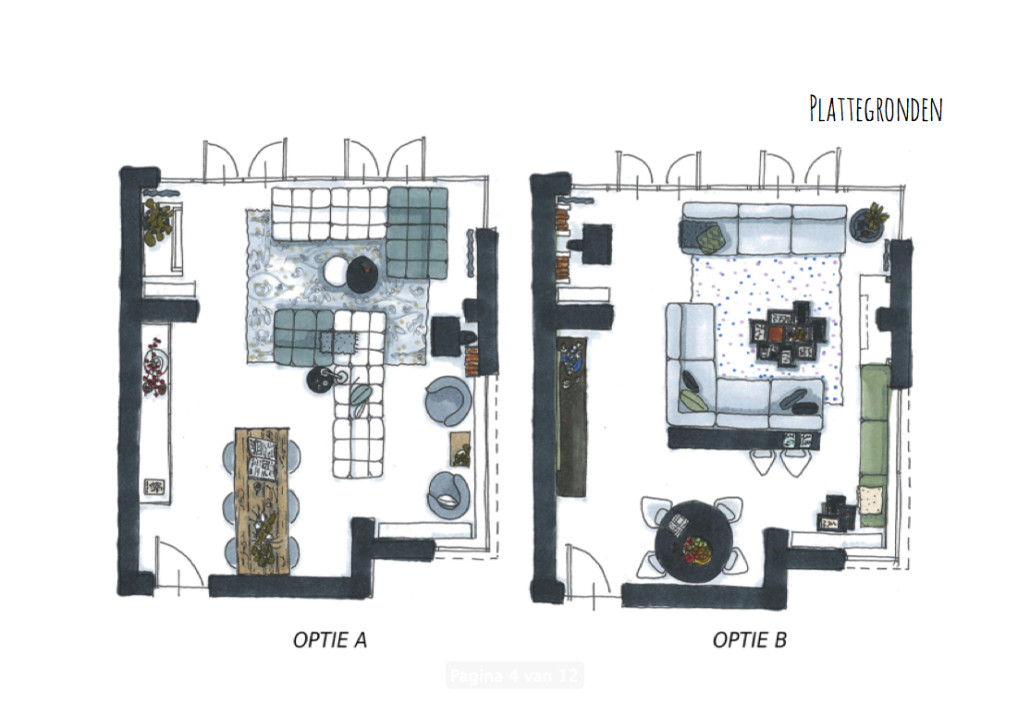 Nya interieurontwerp portfolio woonkamer delft for Interieurontwerp