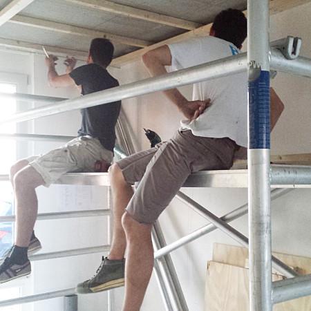 Nya Interieurontwerp Nieuwe woning samen klussen plafond