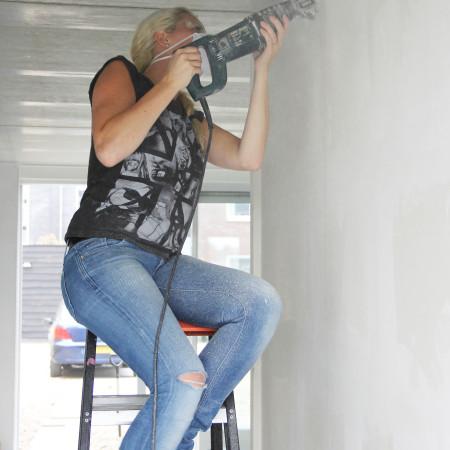 Nya Interieurontwerp Nieuwe woning samen klussen wandje inkorten