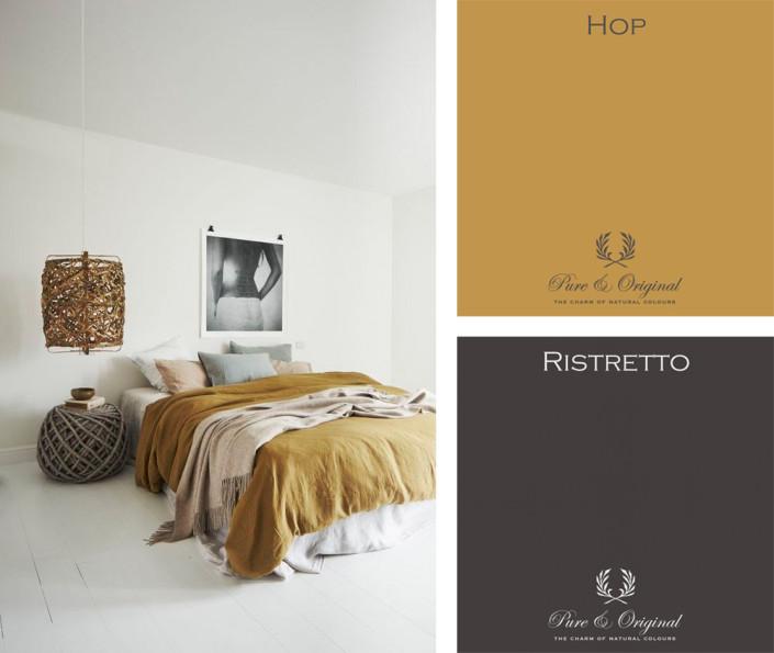 Nya Interieurontwerp kleurencombinatie ristretto - hop