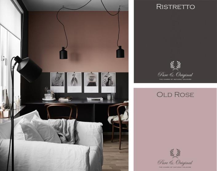 Nya Interieurontwerp kleurencombinatie ristretto - old rose