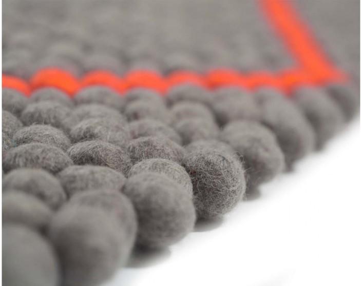 Nya Interieurontwerp strakke patronen 2cm-voelde-ballen-grijs