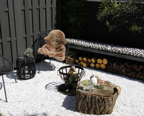 Nya Interieurontwerp tuin zithoek