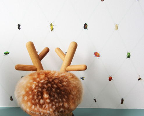 Nya Interieurontwerp babykamer krukje Elements Optimal en behang Snijder & Co