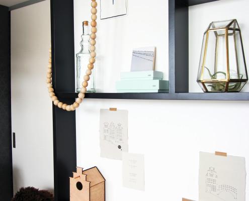 Nya Interieurontwerp bovenverdieping slaapkamer letterbak