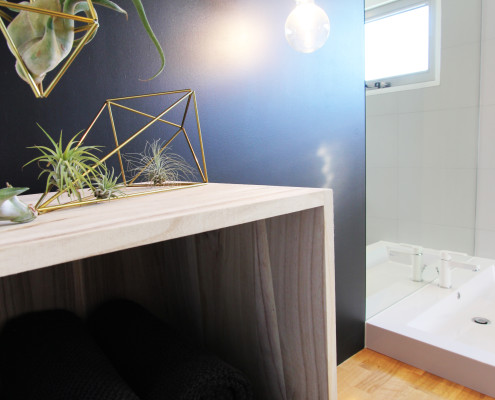 Nya Interieurontwerp badkamer spoelbak werkblad detail